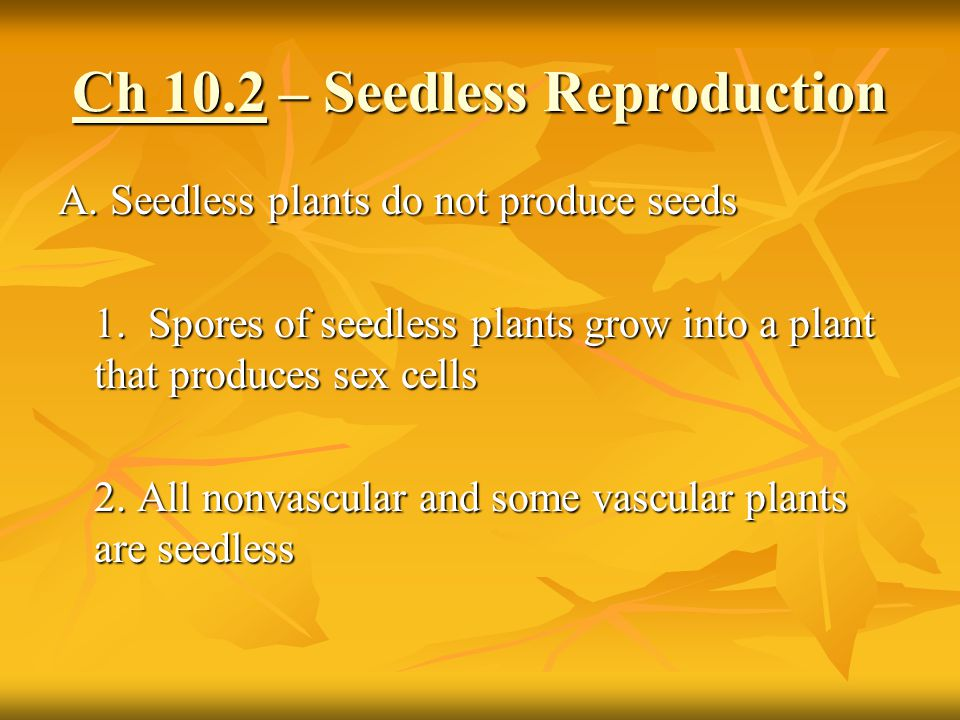 Ch 10.2 – Seedless Reproduction