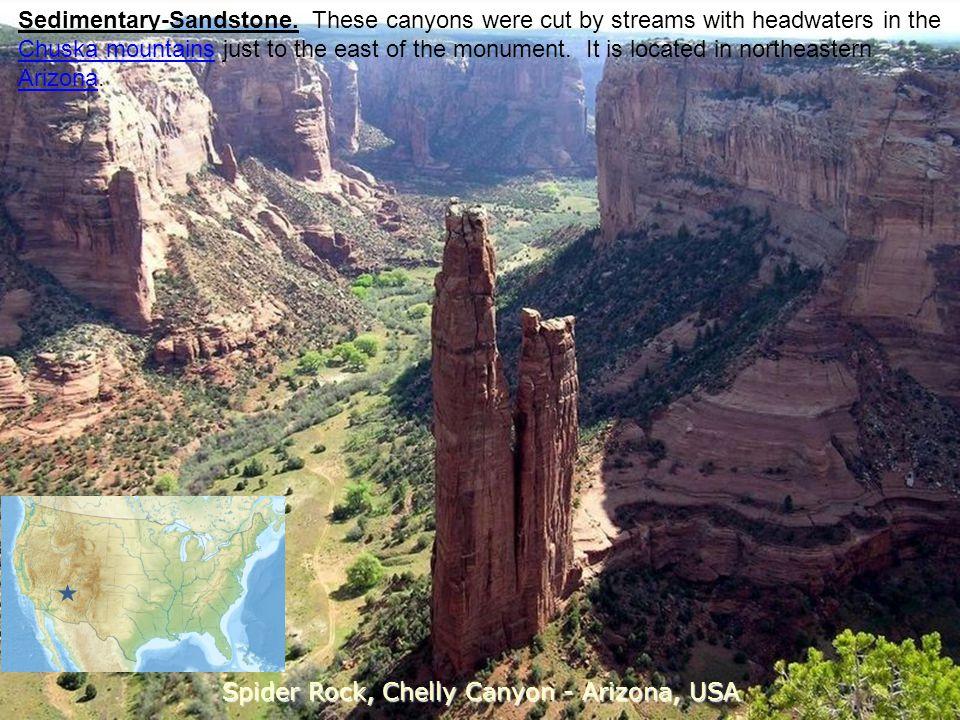 Spider Rock, Chelly Canyon - Arizona, USA