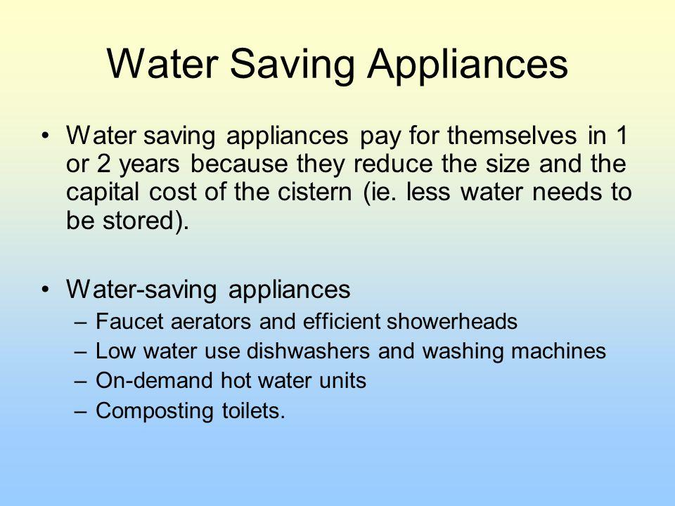 Water Saving Appliances