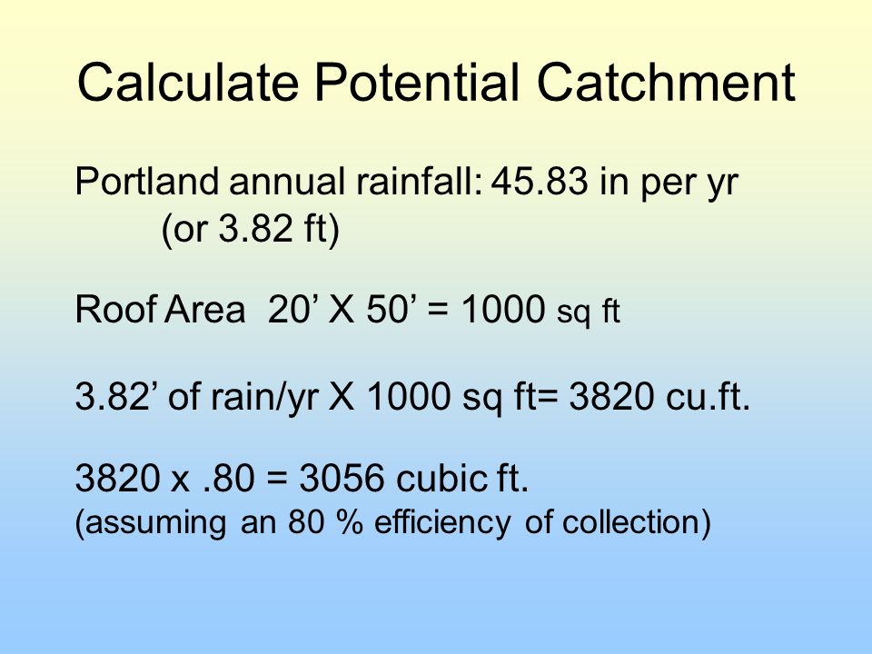 Calculate Potential Catchment