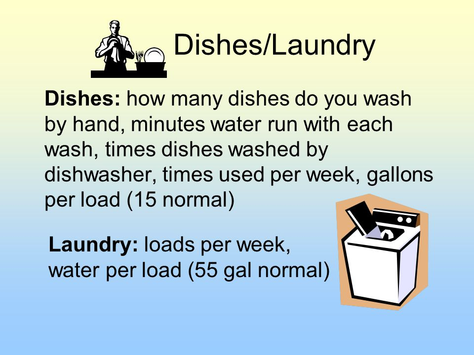 Dishes/Laundry