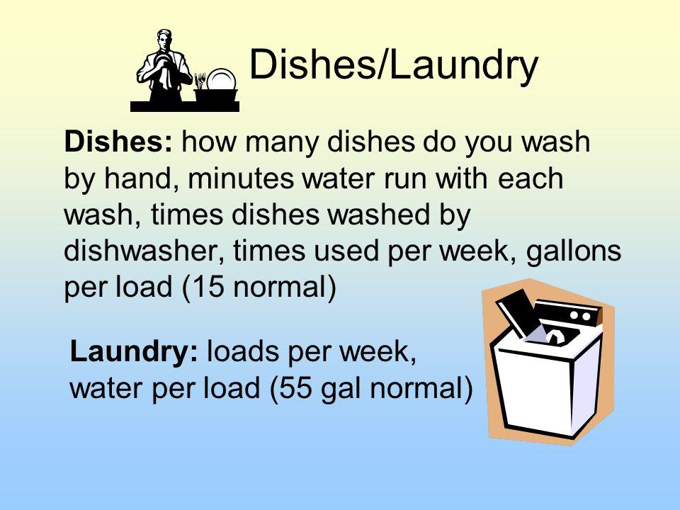 Dishes/Laundry