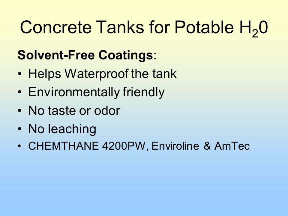 Concrete Tanks for Potable H20