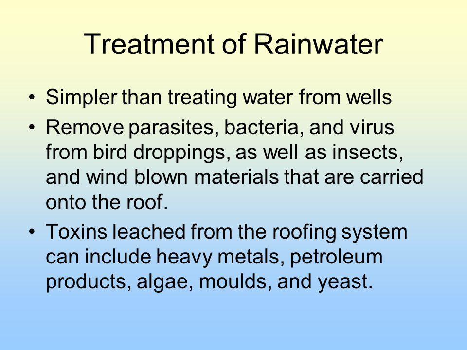 Treatment of Rainwater