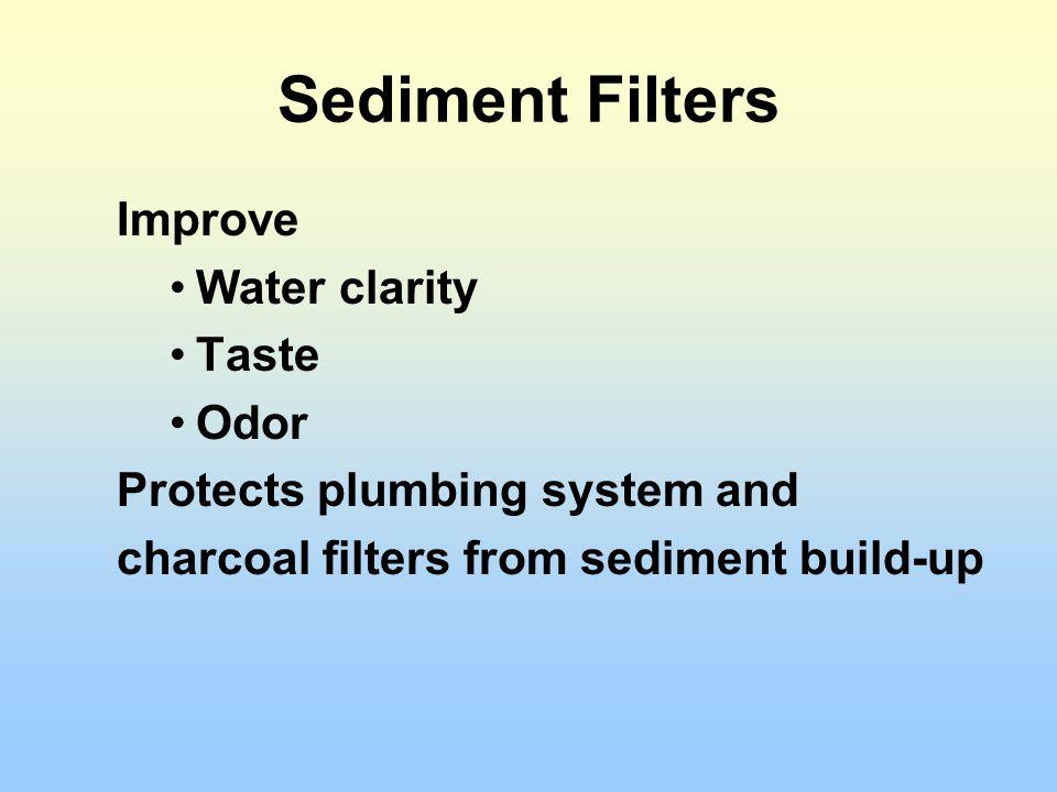 Sediment Filters Improve Water clarity Taste Odor