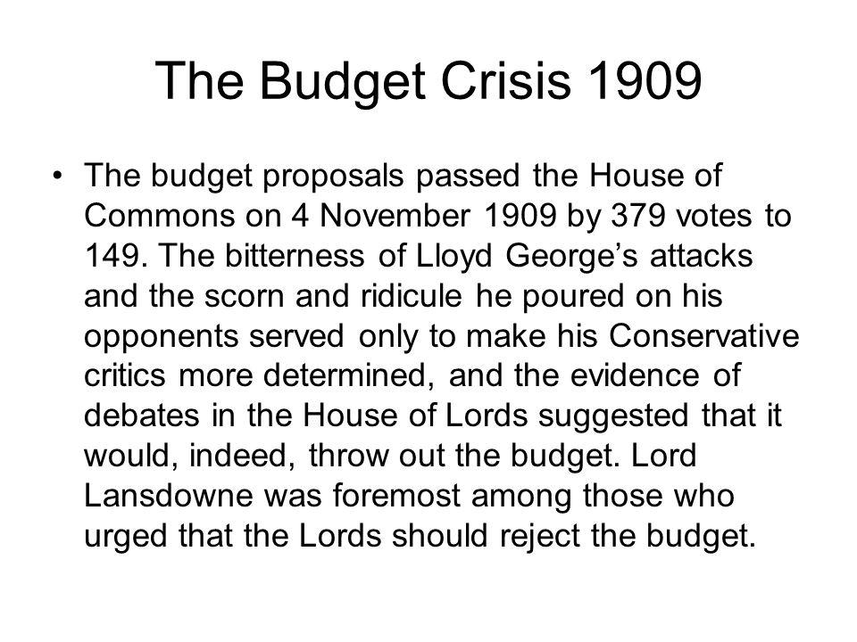 The Budget Crisis 1909