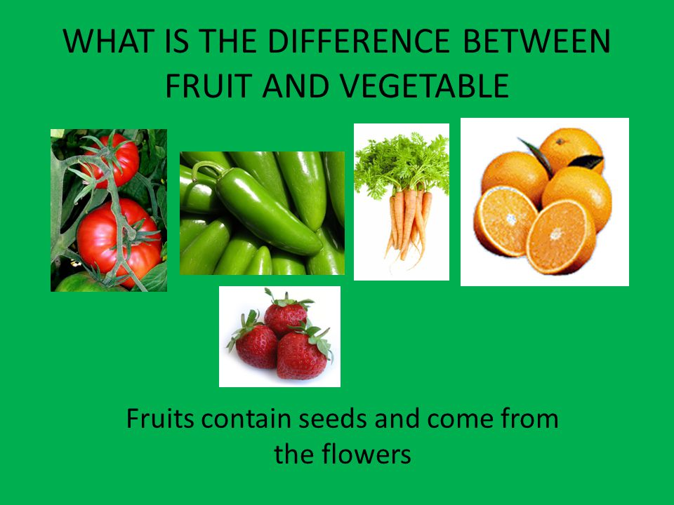 WHAT IS THE DIFFERENCE BETWEEN FRUIT AND VEGETABLE
