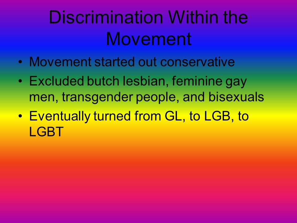 Discrimination Within the Movement
