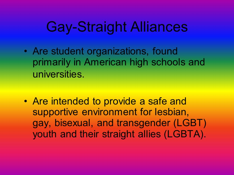 Gay-Straight Alliances