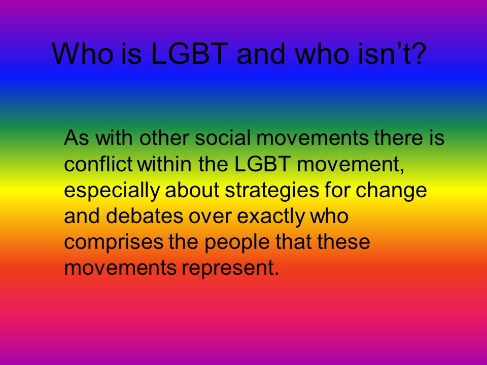 Who is LGBT and who isn't