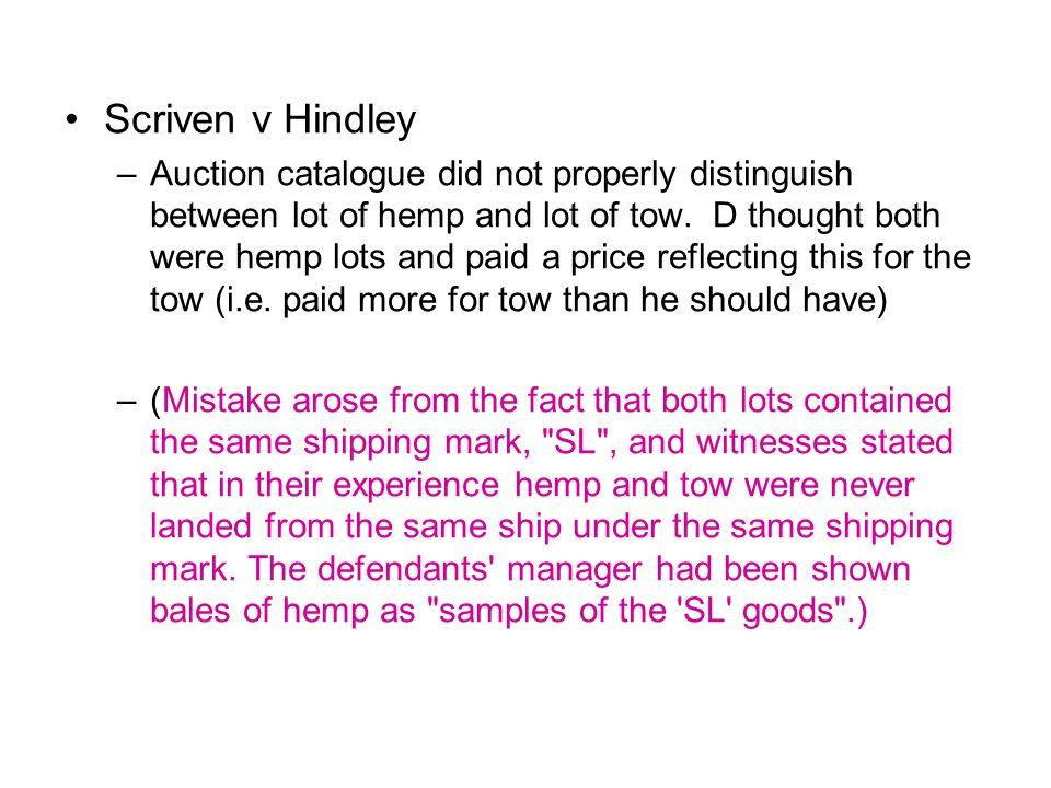 Scriven v Hindley