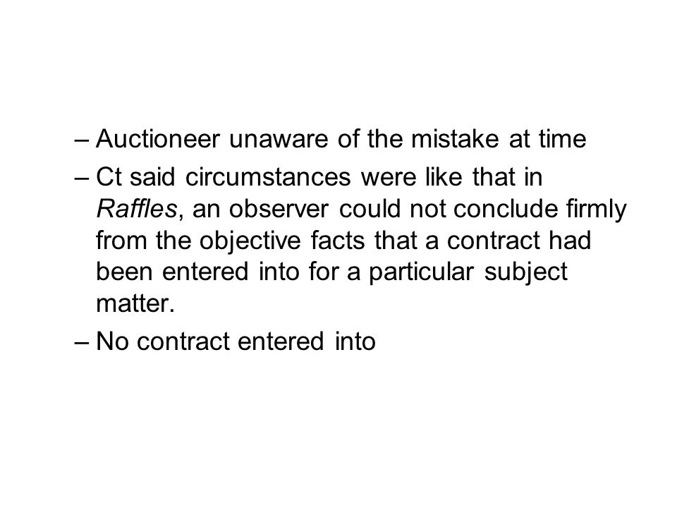 Auctioneer unaware of the mistake at time