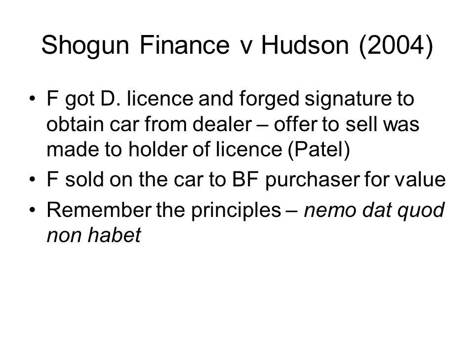 Shogun Finance v Hudson (2004)