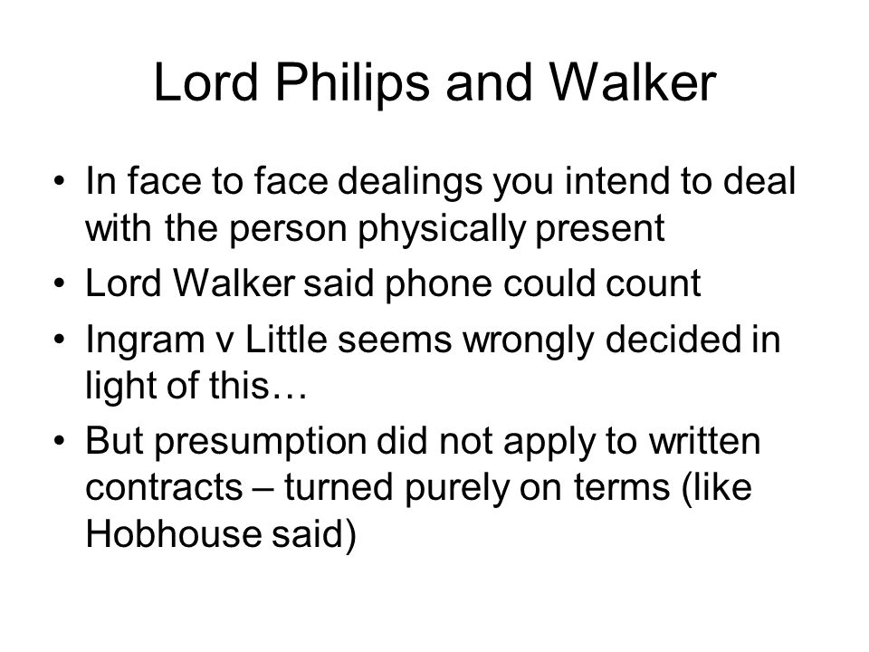 Lord Philips and Walker