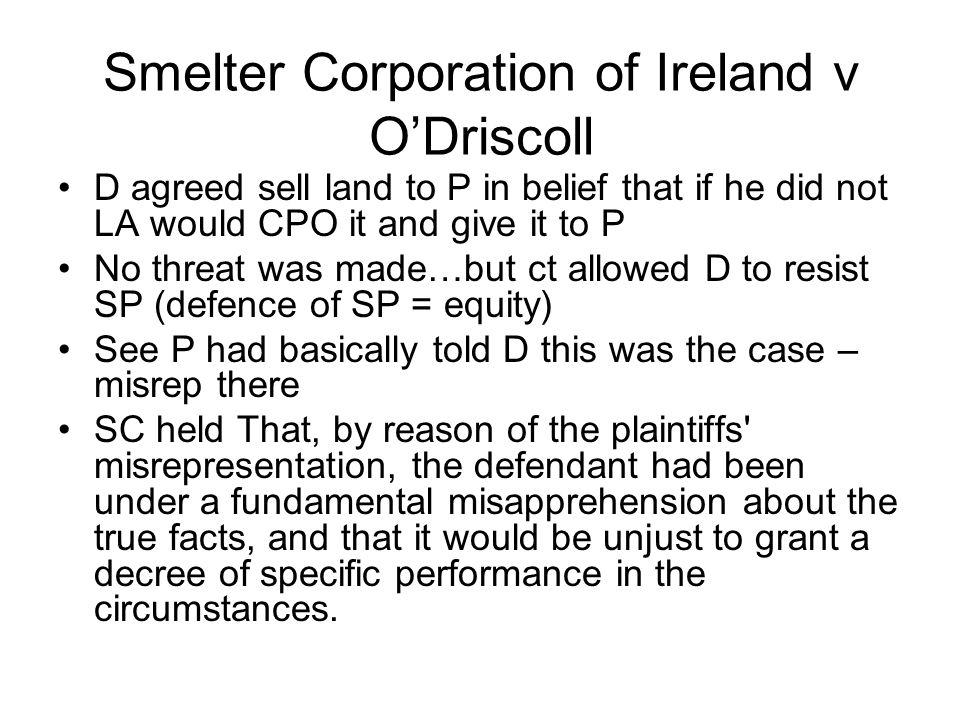 Smelter Corporation of Ireland v O'Driscoll