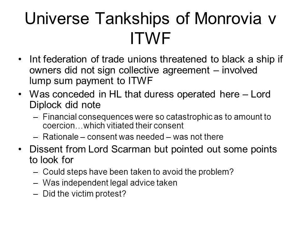 Universe Tankships of Monrovia v ITWF