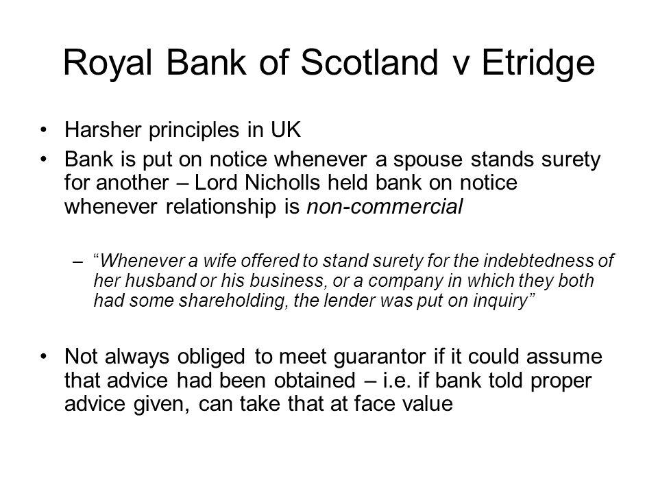 Royal Bank of Scotland v Etridge