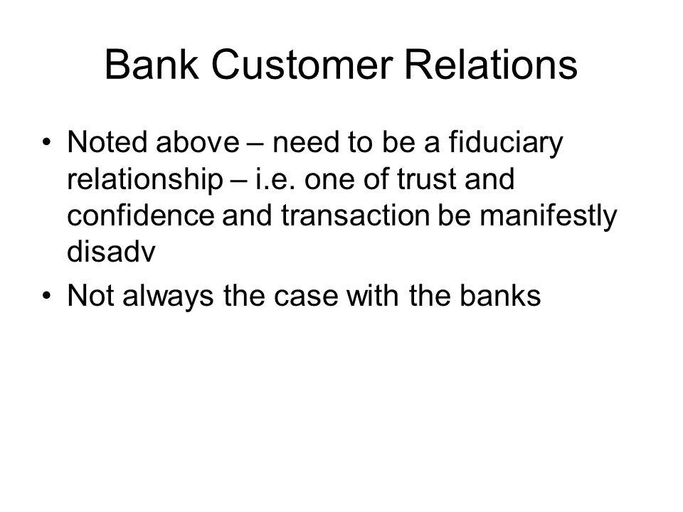 Bank Customer Relations