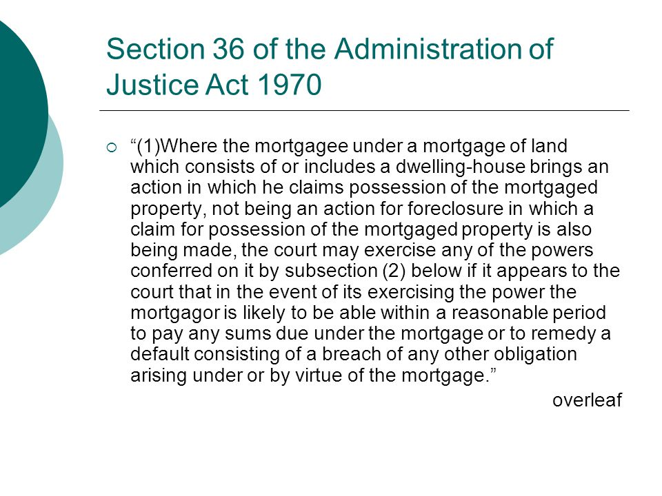 Section 36 of the Administration of Justice Act 1970