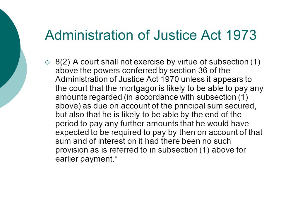 Administration of Justice Act 1973