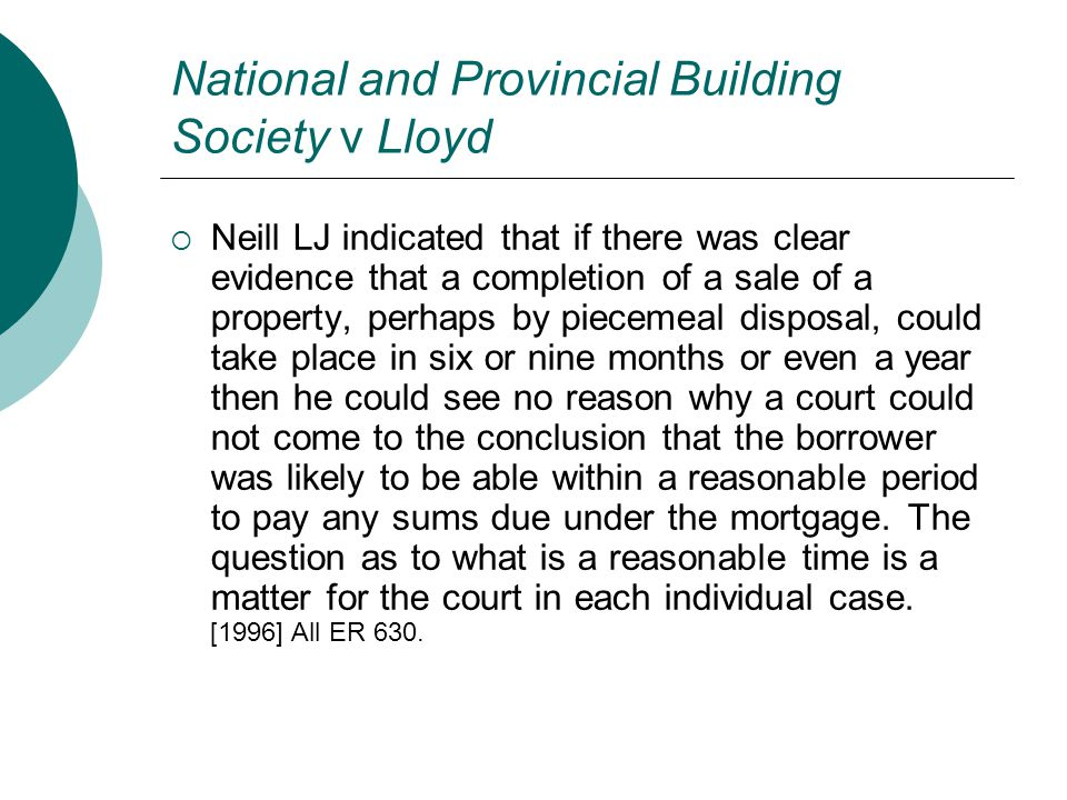 National and Provincial Building Society v Lloyd
