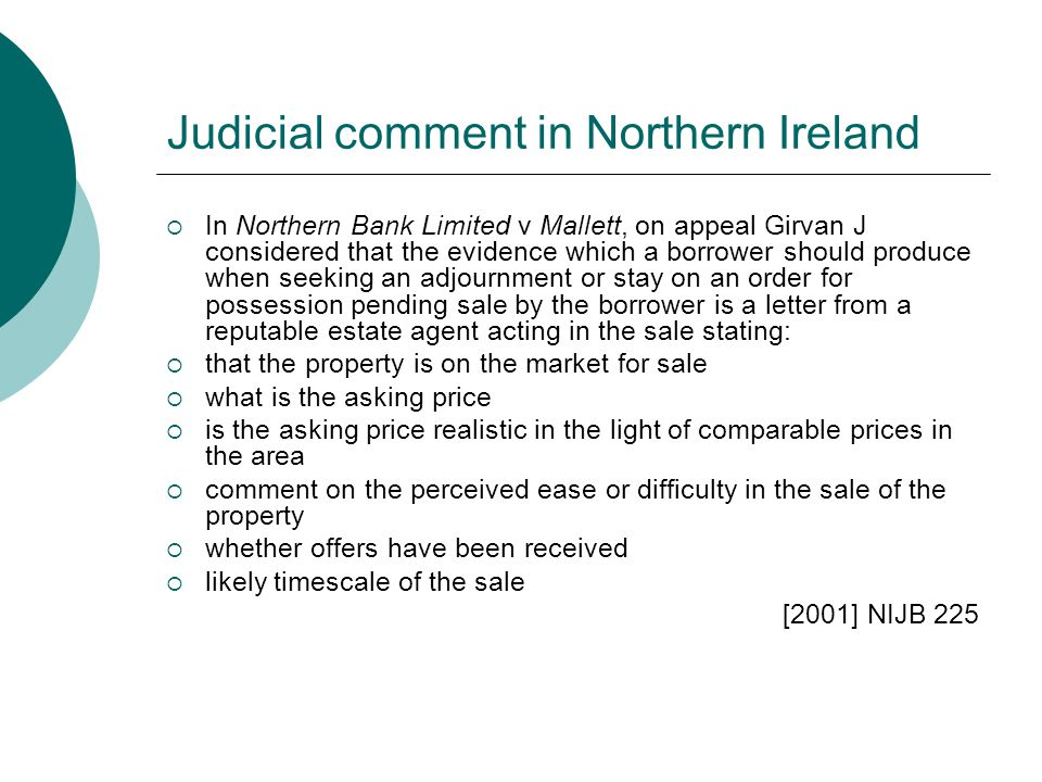 Judicial comment in Northern Ireland