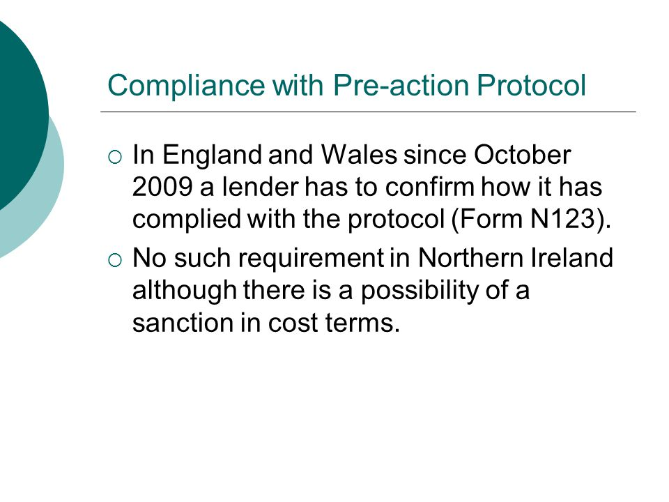 Compliance with Pre-action Protocol