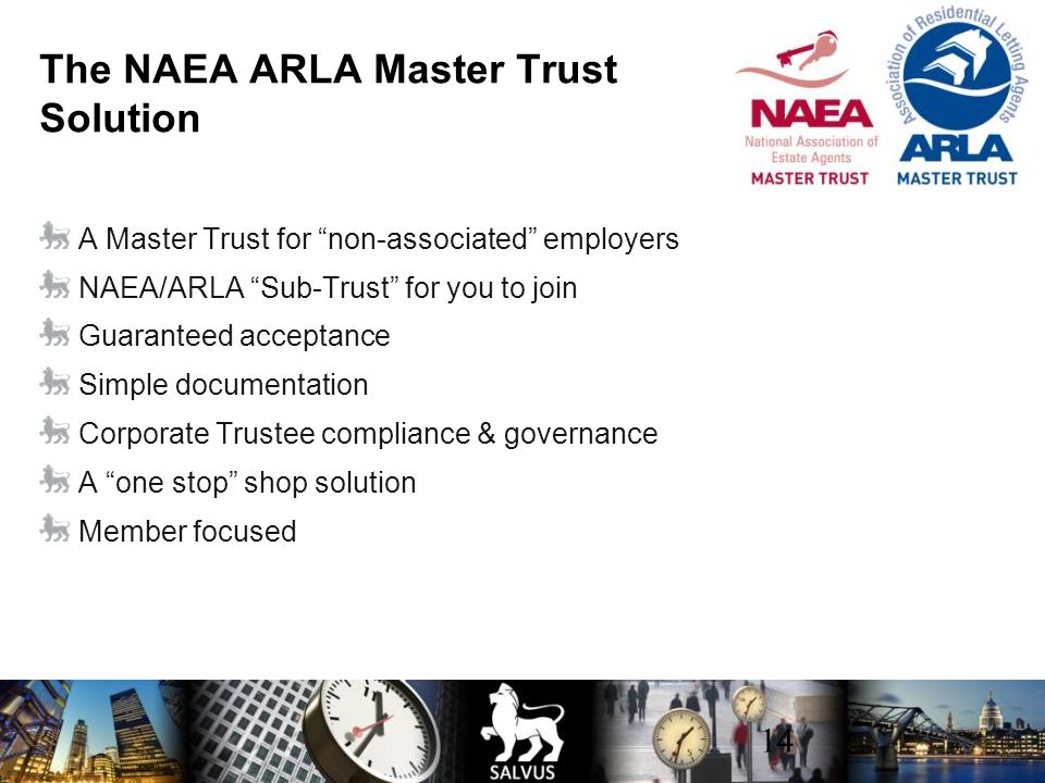 The NAEA ARLA Master Trust Solution