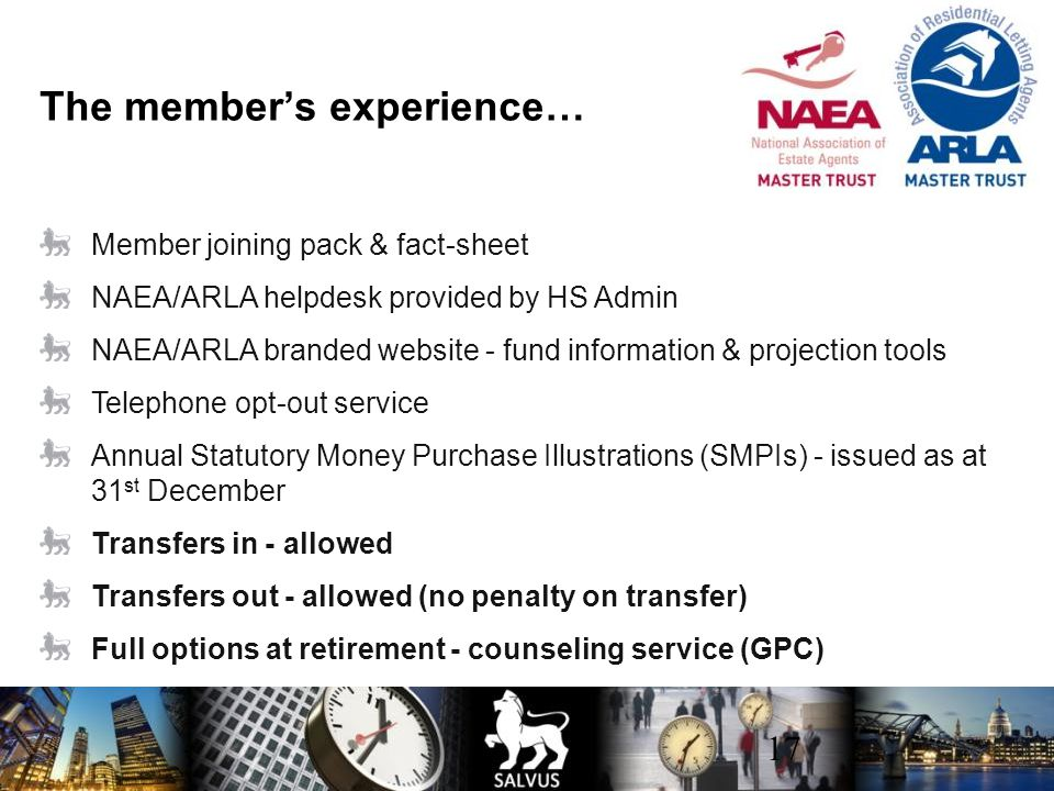 The member's experience…