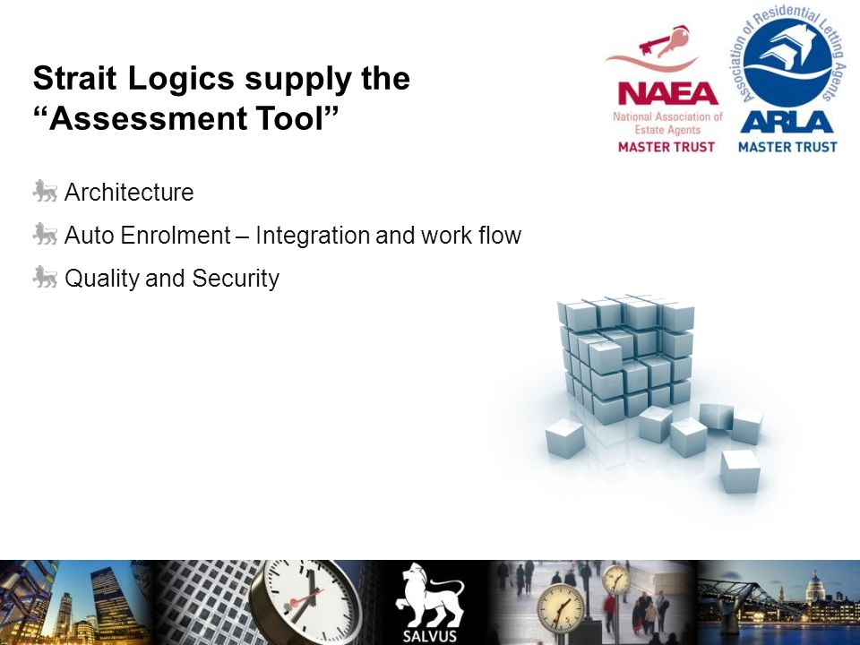 Strait Logics supply the Assessment Tool