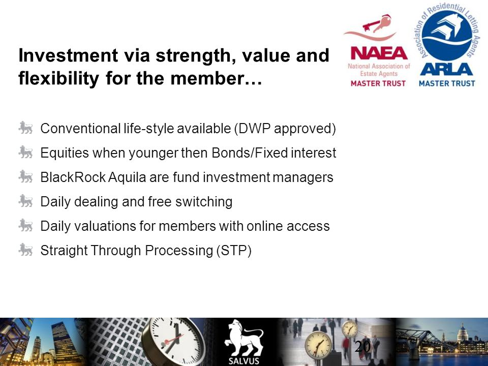 Investment via strength, value and flexibility for the member…