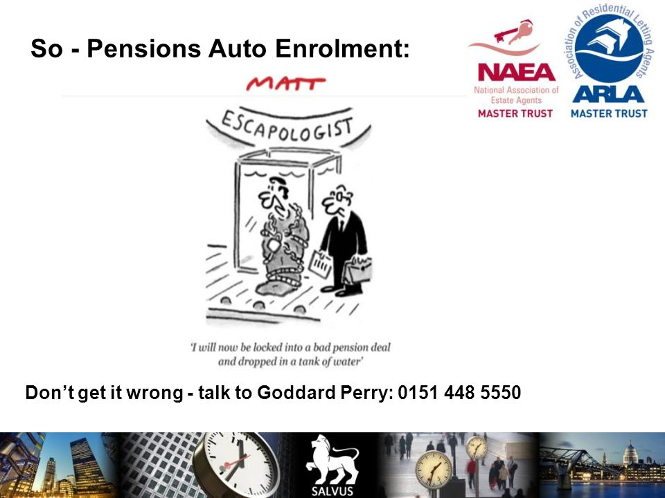 Don't get it wrong - talk to Goddard Perry: 0151 448 5550
