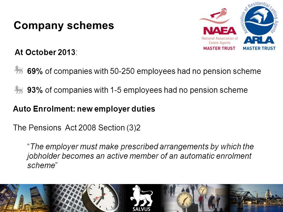 Company schemes At October 2013: