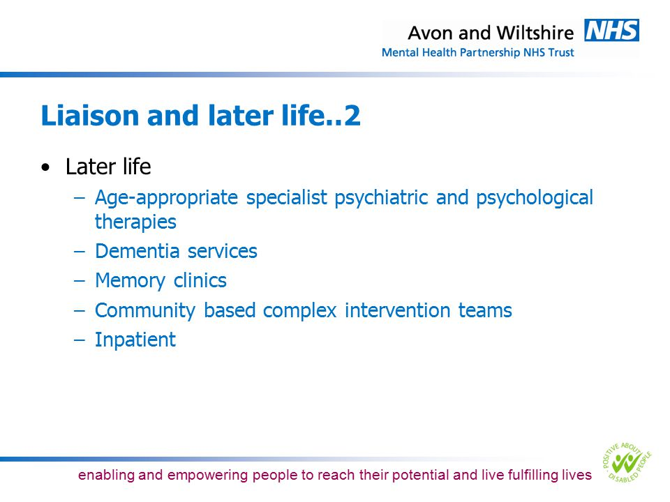 Liaison and later life..2 Later life