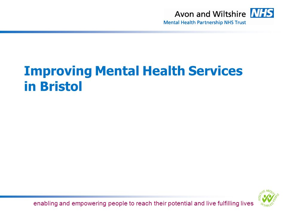 Improving Mental Health Services in Bristol