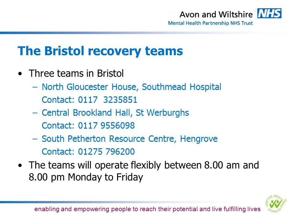 The Bristol recovery teams
