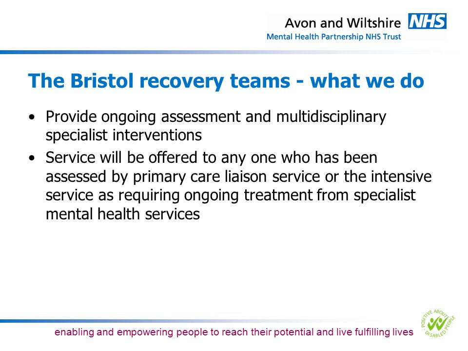 The Bristol recovery teams - what we do