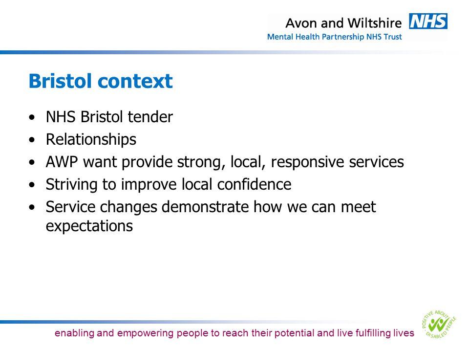 Bristol context NHS Bristol tender Relationships