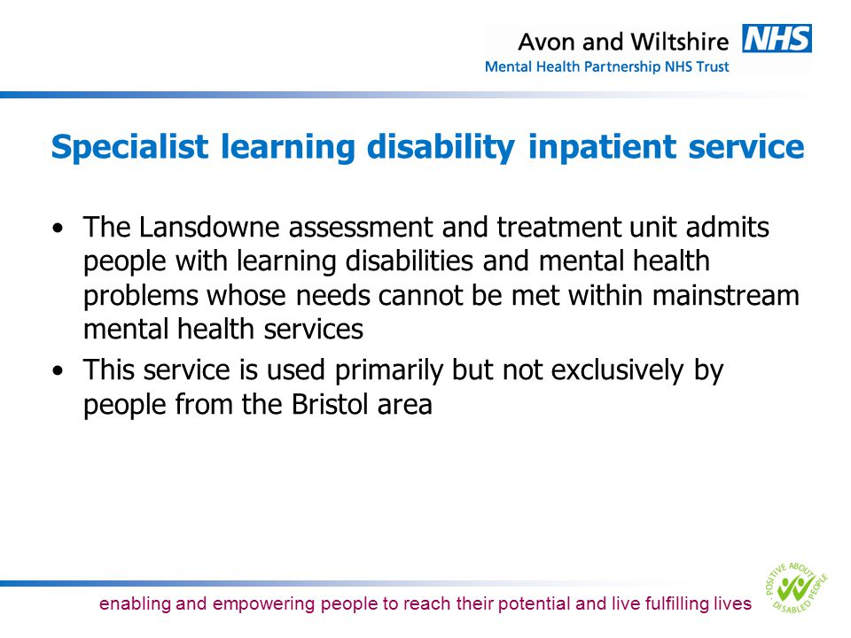 Specialist learning disability inpatient service