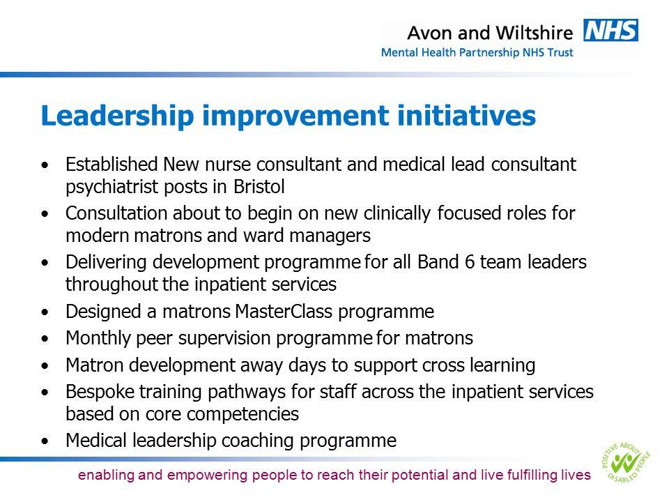 Leadership improvement initiatives
