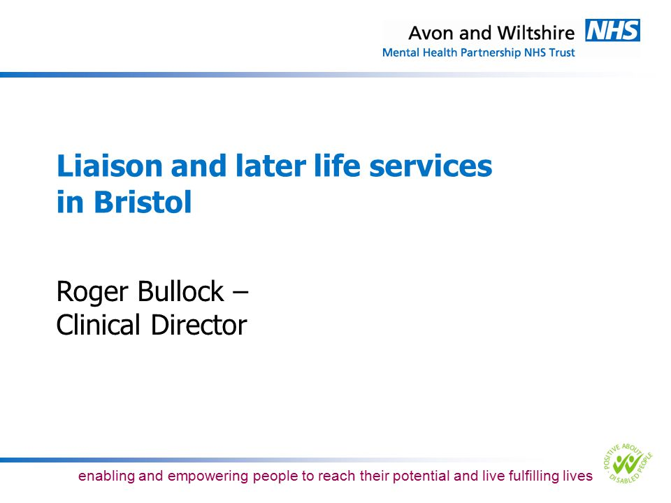 Liaison and later life services in Bristol