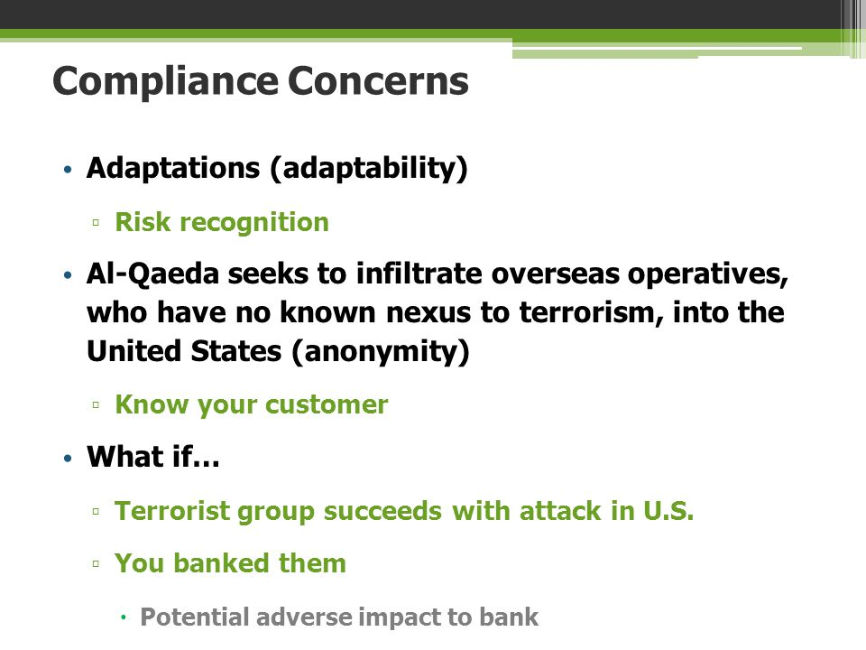 Compliance Concerns Adaptations (adaptability)