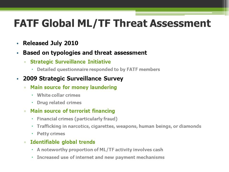 FATF Global ML/TF Threat Assessment