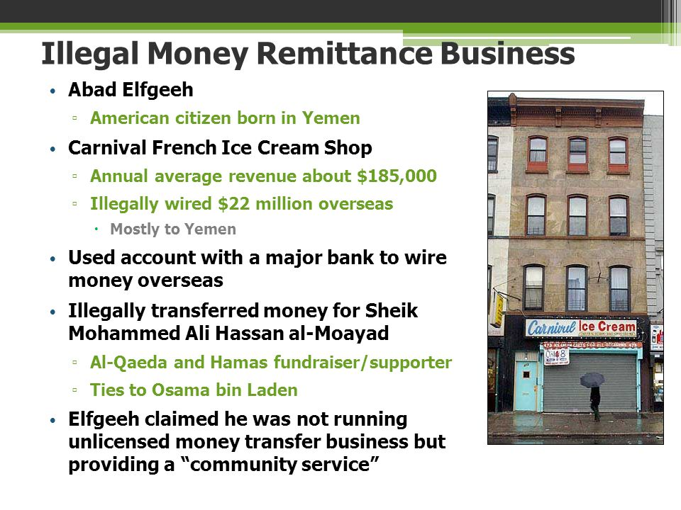 Illegal Money Remittance Business