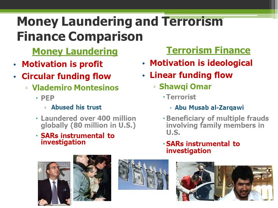Money Laundering and Terrorism Finance Comparison