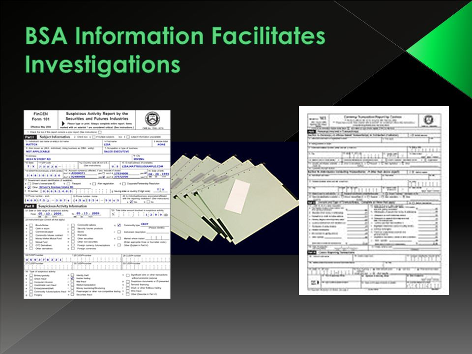 BSA Information Facilitates Investigations