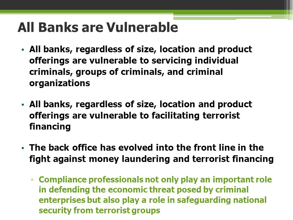 All Banks are Vulnerable
