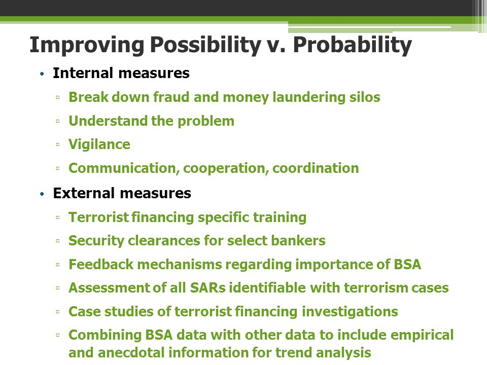 Improving Possibility v. Probability