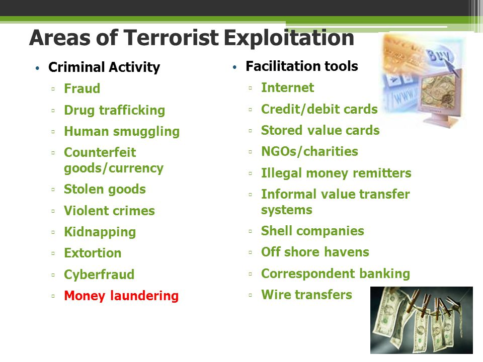 Areas of Terrorist Exploitation