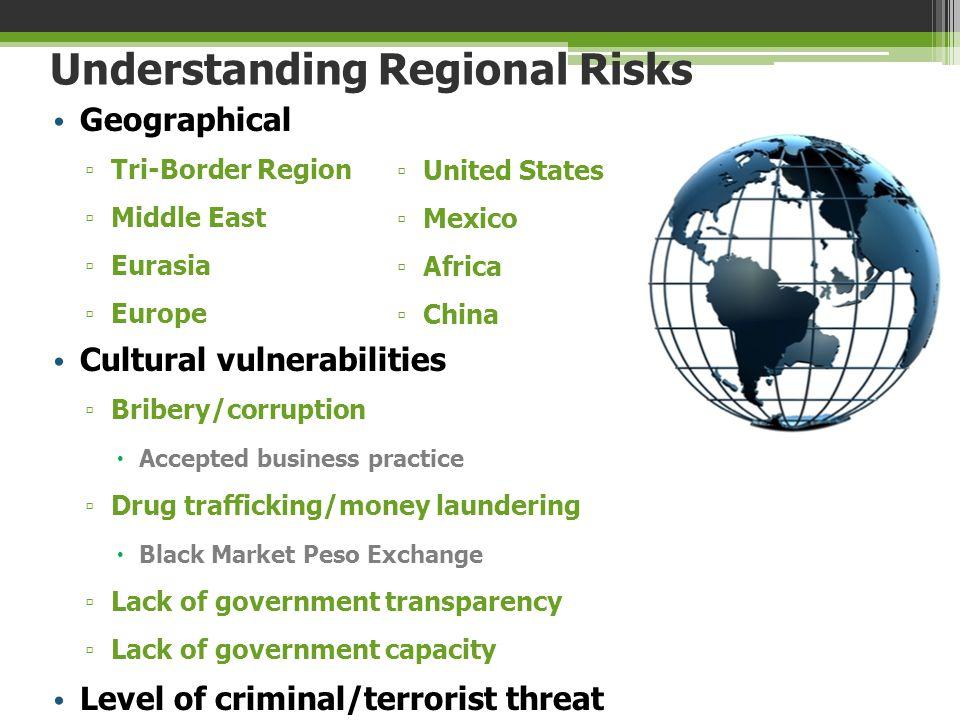 Understanding Regional Risks